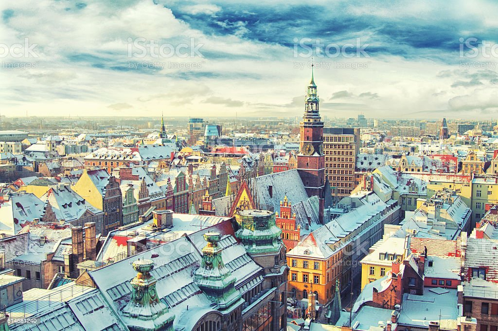 Poland. View of Wroclaw stock photo