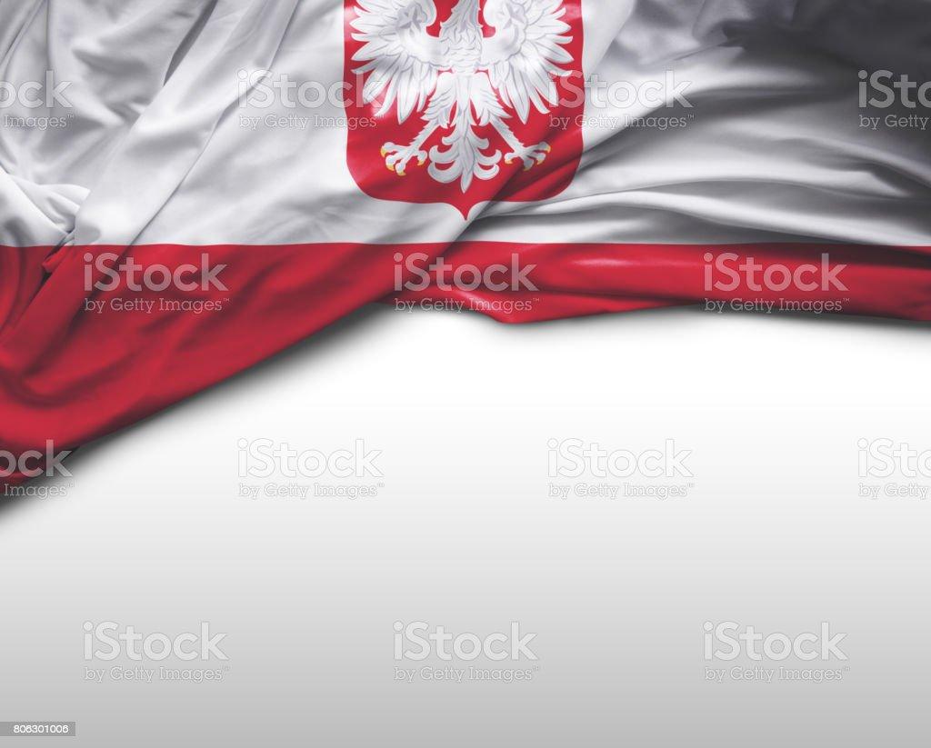 Poland waving flag