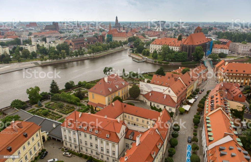 Poland. Wroclaw oldtown view. stock photo