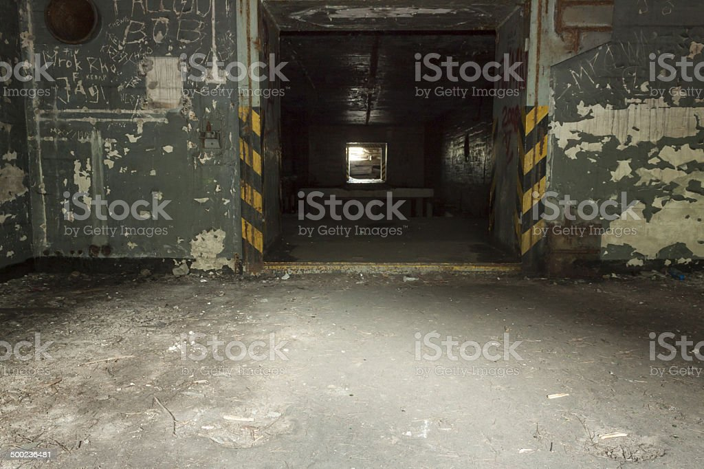 Poland, Zachodniopomorskie, Brzeznica,  Disused Cold-war Time Nuclear Weapons Store stock photo