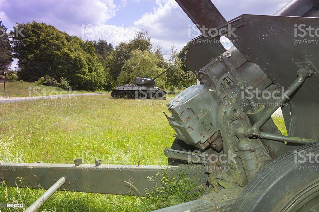 Poland, Zachodniopomorskie, Zdbice, Military Gear Open Air Museum stock photo