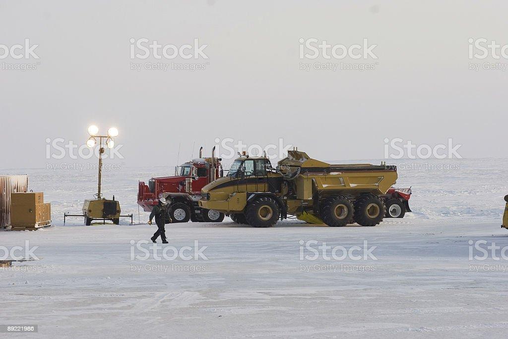 Polar heavy-duty equipment stock photo