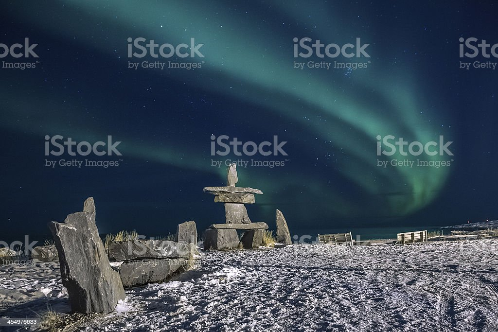 Polar Light from Churchill, Manitoba, CA stock photo