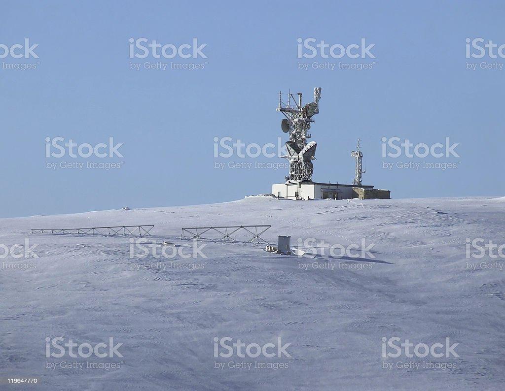 Polar station stock photo
