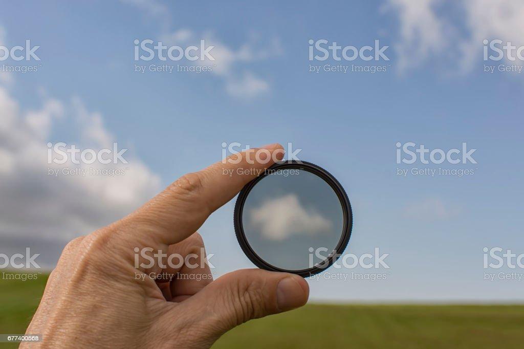 Polarising filter stock photo