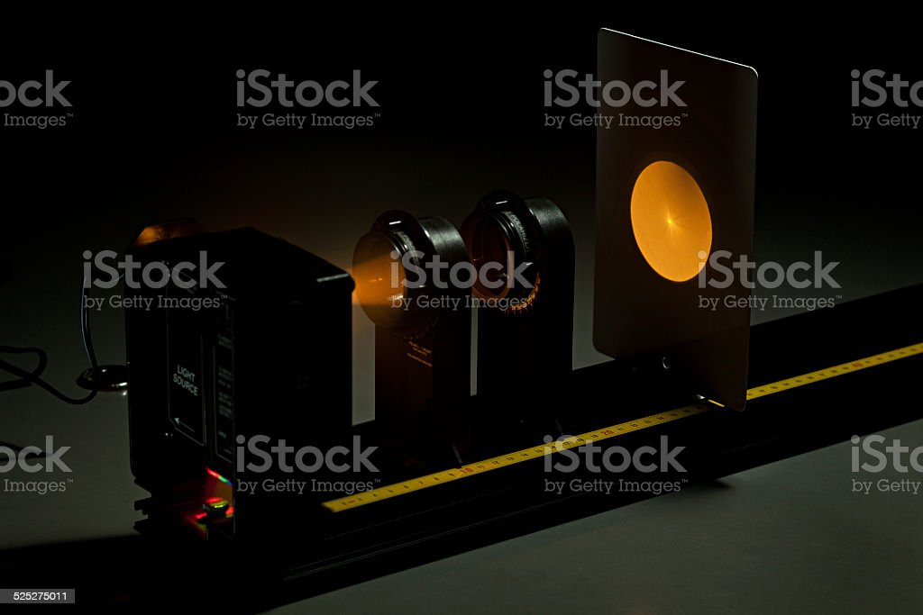 Polarization experiment stock photo