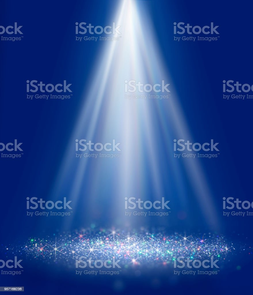 Polarization pearl sequins, shiny glitter spotlight background 7 stock photo