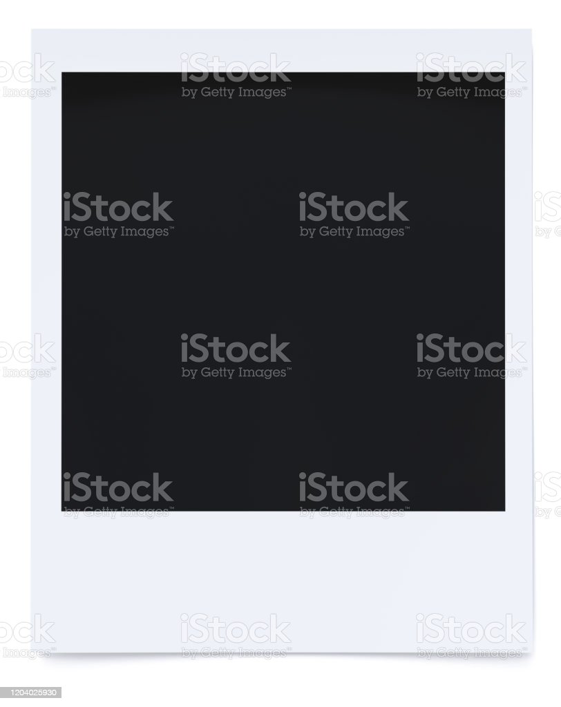 Polaroid Foto 3D Rendering - Lizenzfrei Alt Stock-Foto