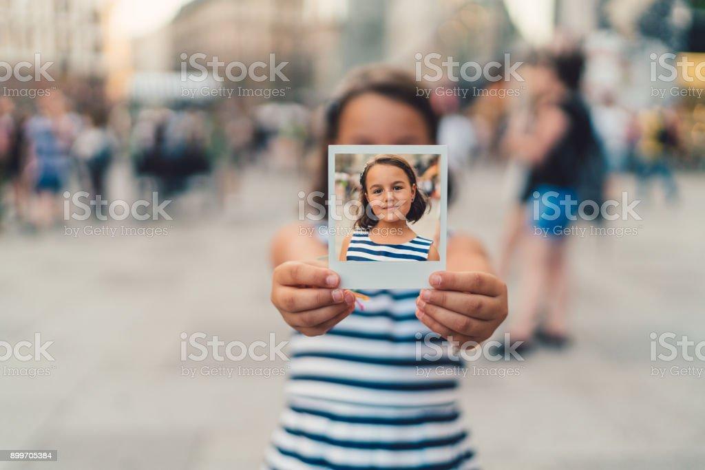 Polaroid photo stock photo
