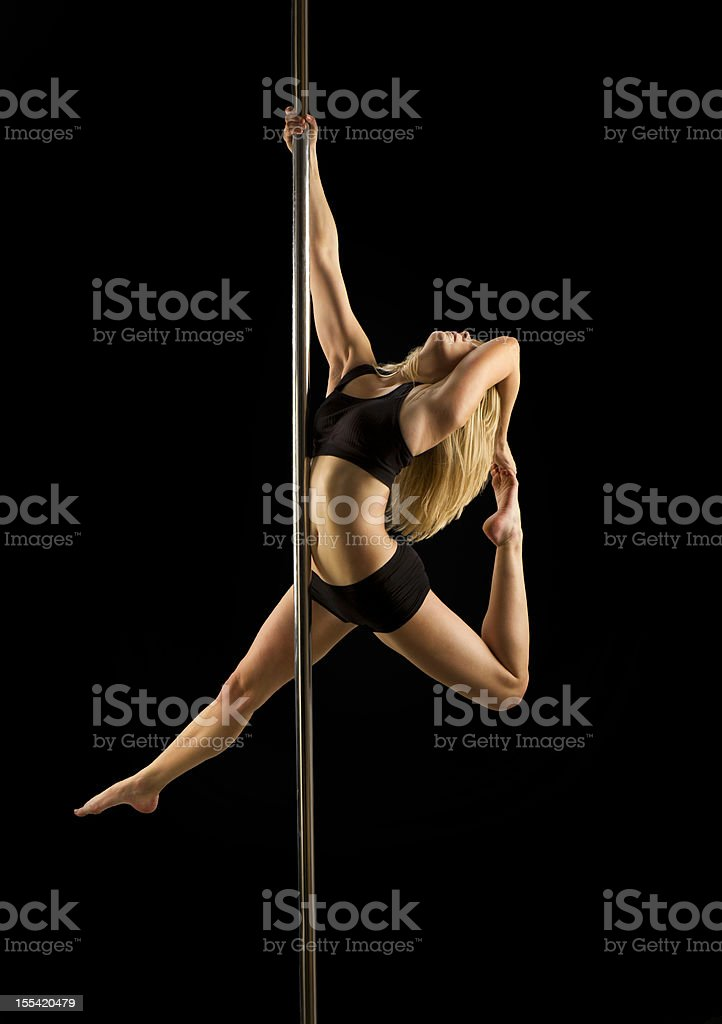 pole dance fitness stock photo