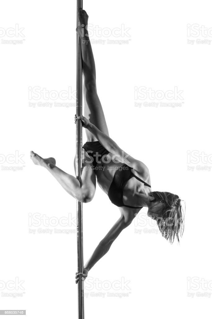 Pole dance stock photo