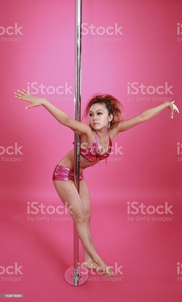 pole dancing royalty-free stock photo