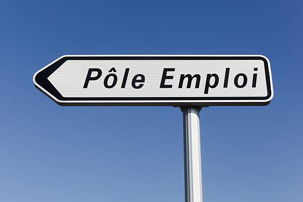 pole emploi panel in france - unemployment stock pictures, royalty-free photos & images