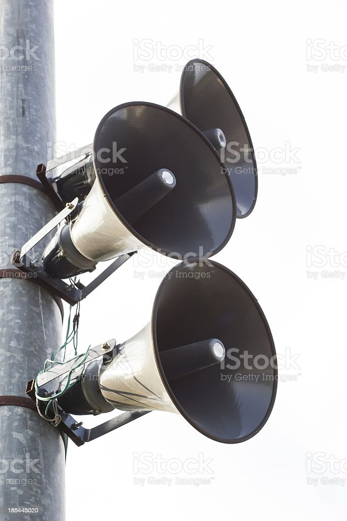 pole megaphone royalty-free stock photo