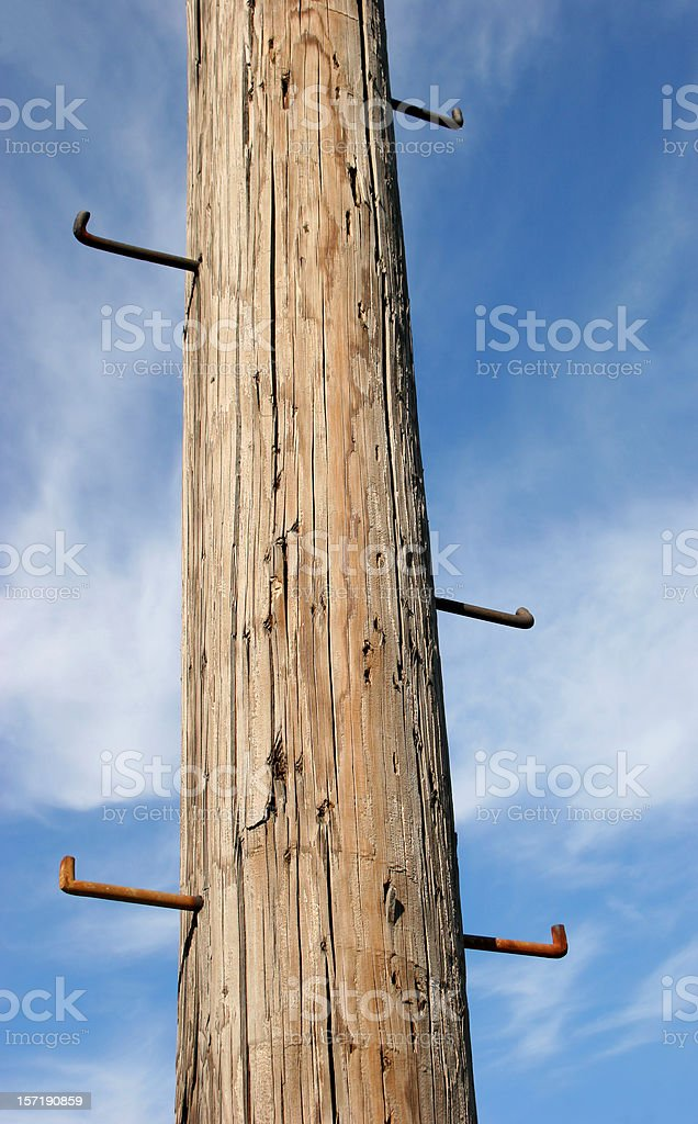 Pole to Sky royalty-free stock photo