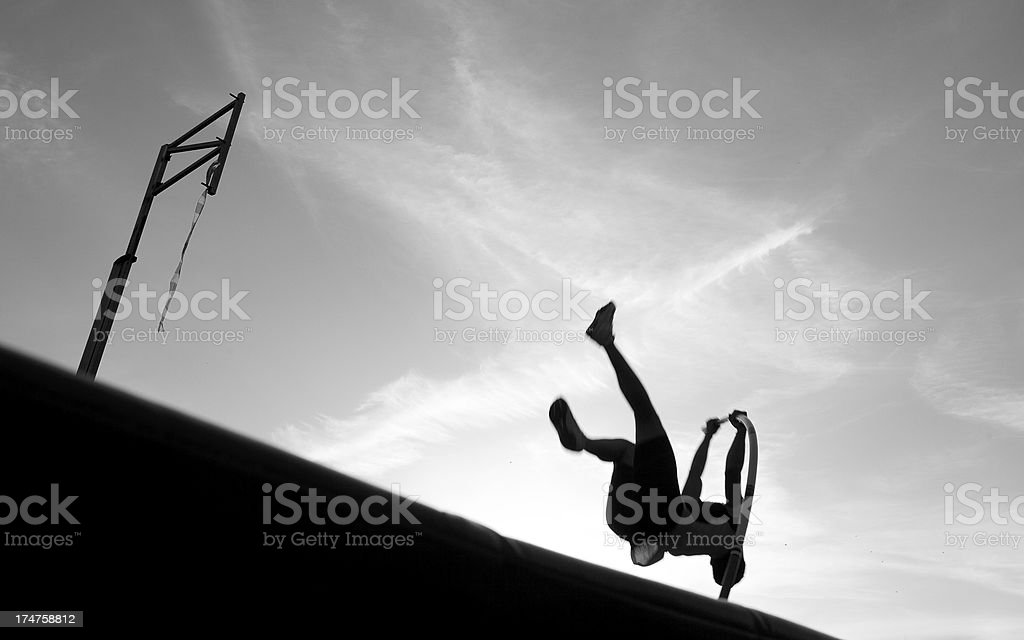Pole Vault silhouette royalty-free stock photo