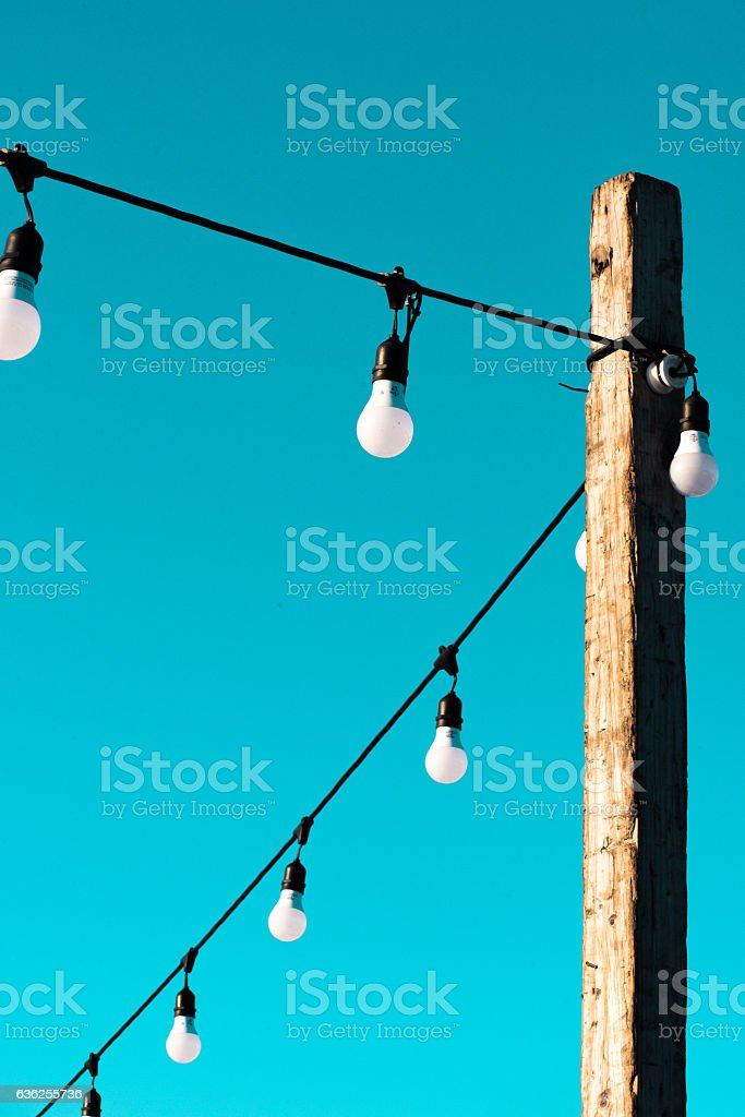 Pole with a lamps stock photo