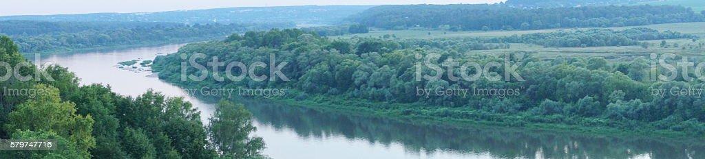 Polenovo, views of the river Oka stock photo