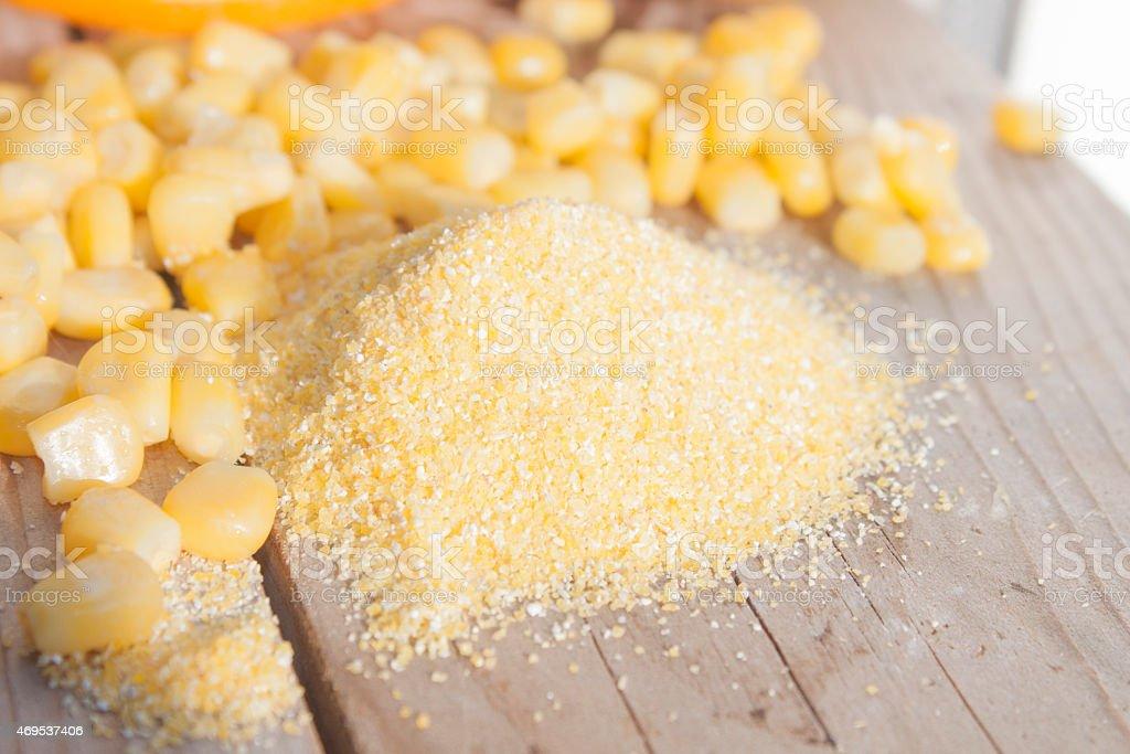 Polenta grain stock photo