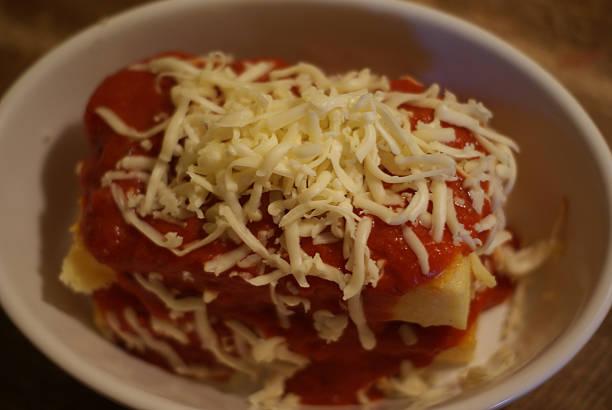 Polenta Lasagna stock photo