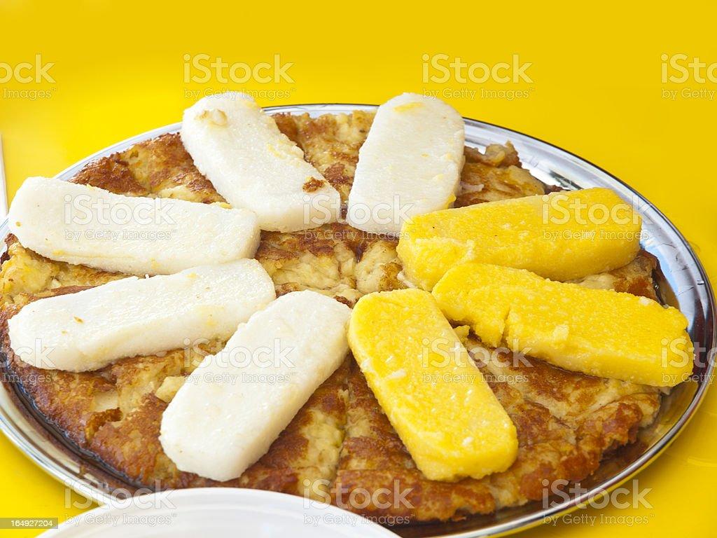 Polenta with cheese pie royalty-free stock photo