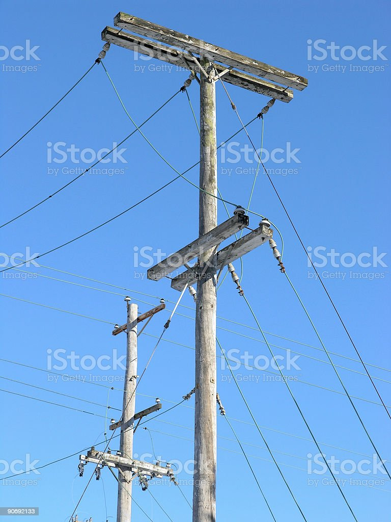 Poles and Wires royalty-free stock photo