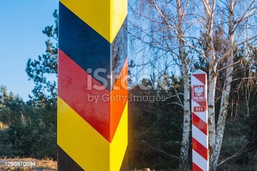 Border posts of Poland and Germany