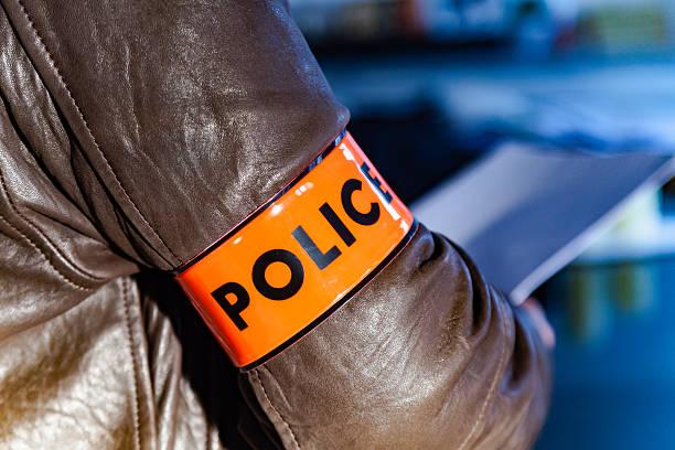 Police armband stock photo