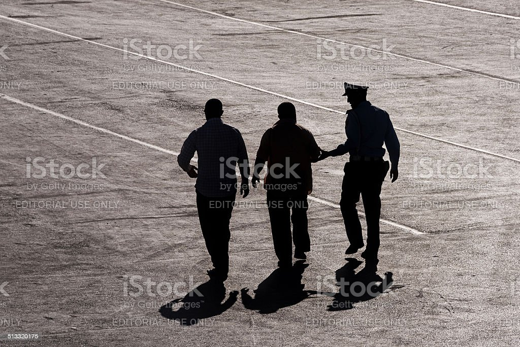 Police arrest stock photo