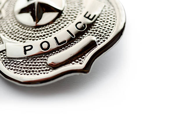 insignia de policía - insignia símbolo fotografías e imágenes de stock