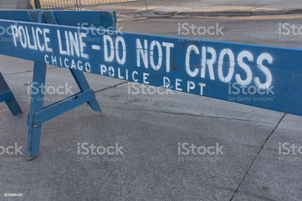 Police Barricade stock photo