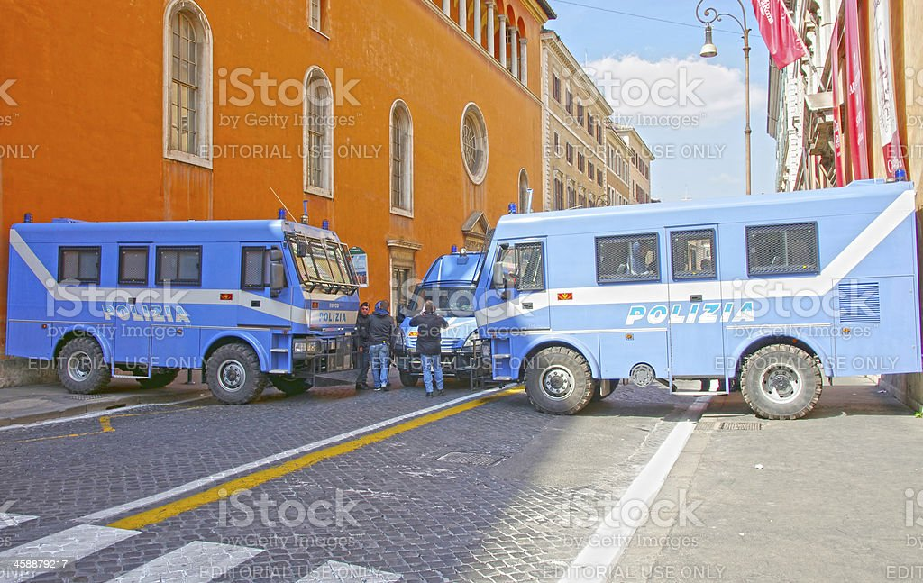 Police barrier royalty-free stock photo