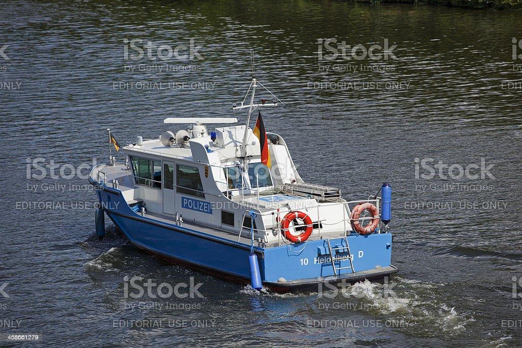 Police boat royalty-free stock photo
