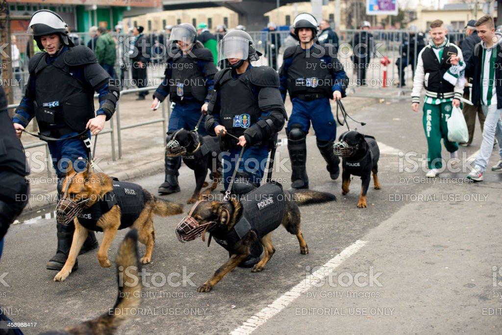Police  - Budapest, Hungary royalty-free stock photo