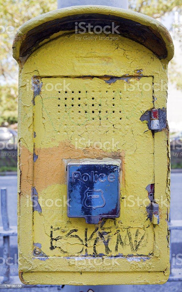 Police Call Box royalty-free stock photo