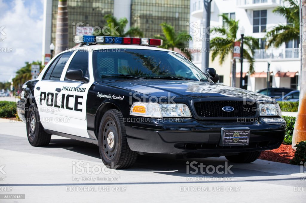 police car and sirens parked in miami florida usa stock photo more pictures of authority istock. Black Bedroom Furniture Sets. Home Design Ideas