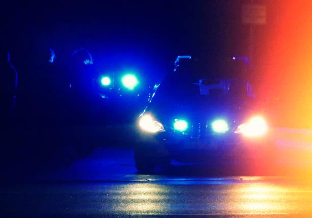 Polizei-Auto in der Nacht – Foto