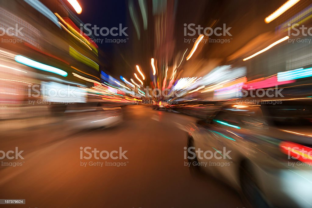 Police car blur motion stock photo
