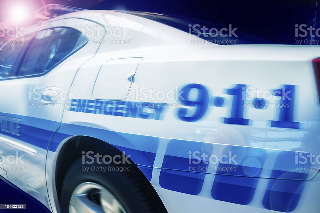 Police car - emergency concept image stock photo