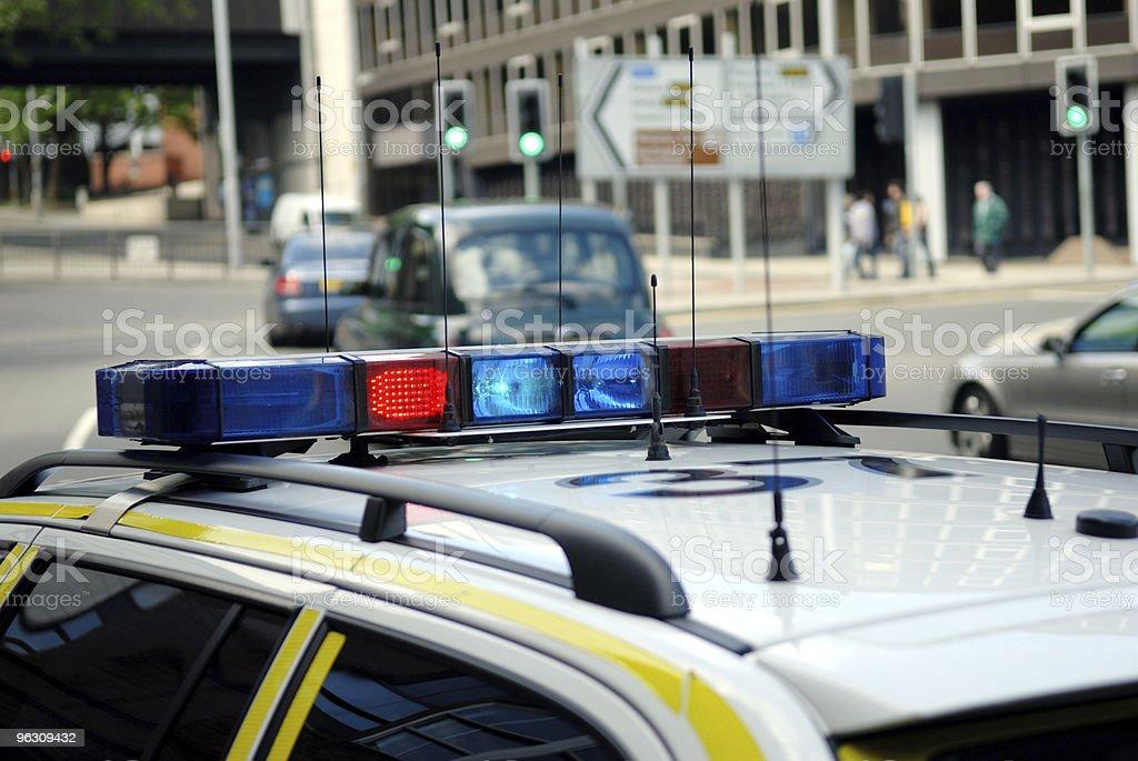Police car england. stock photo