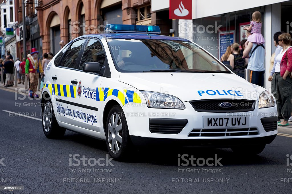 Police car, Ford Focus royalty-free stock photo