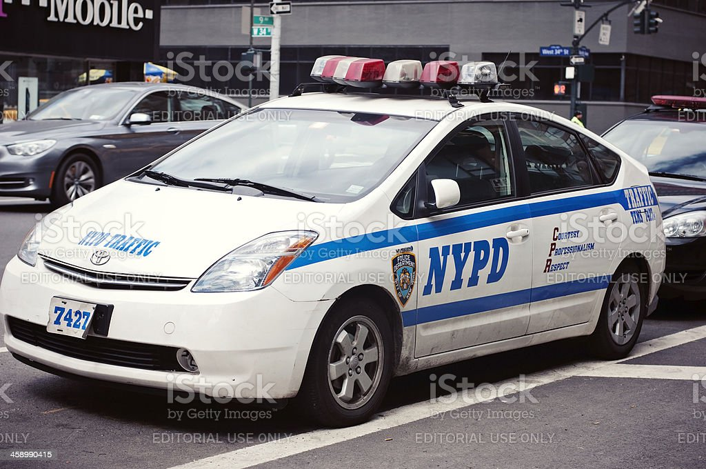 Police Car in New York City royalty-free stock photo
