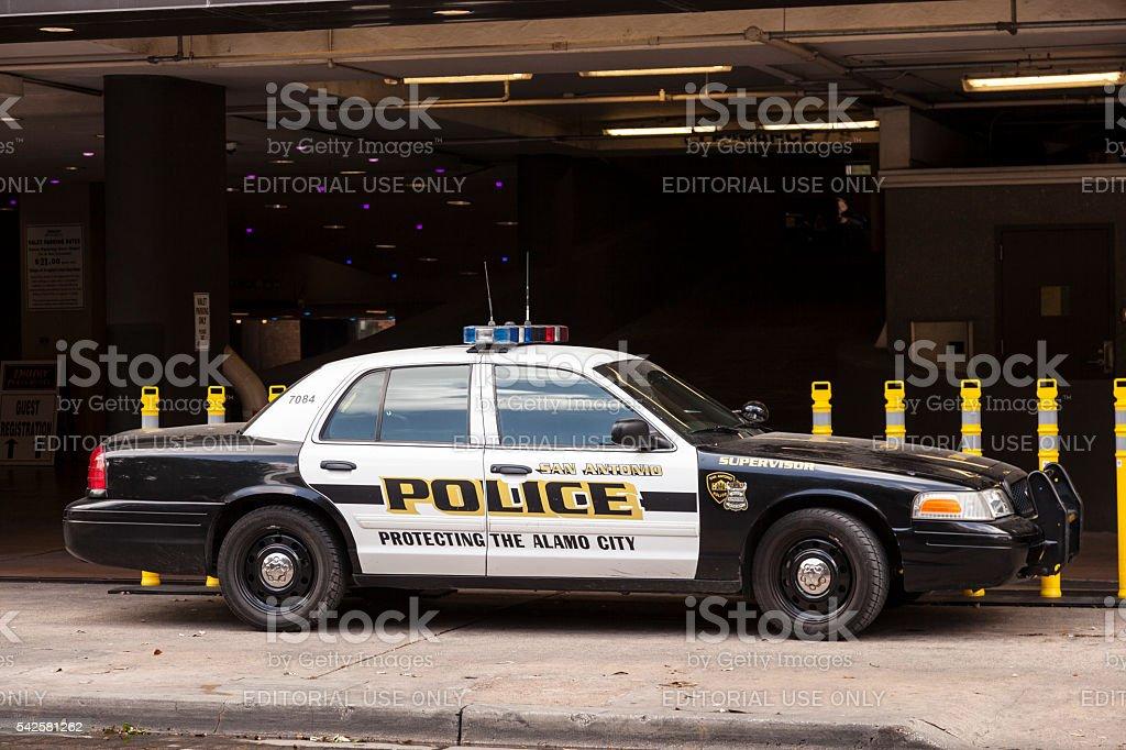 Police Car in San Antonio, Texas stock photo