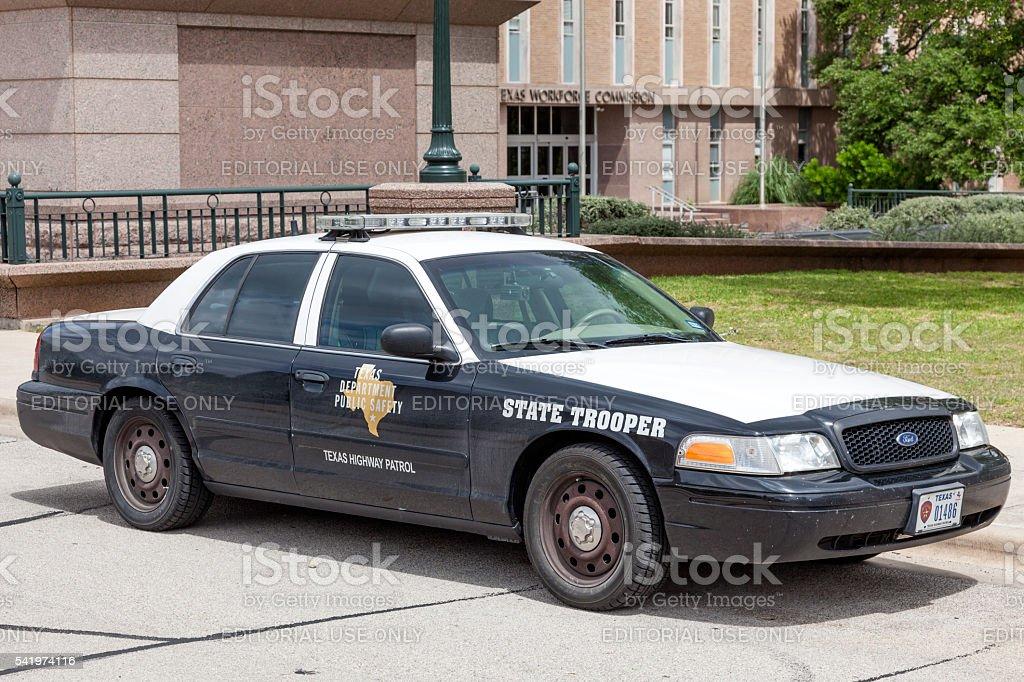 Police Car in Texas stock photo