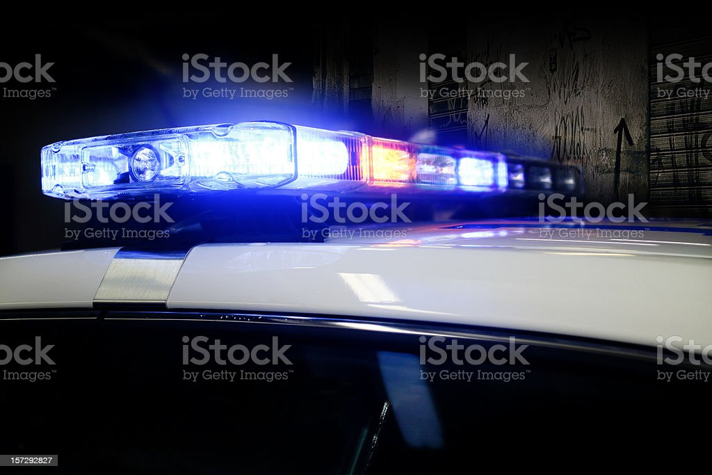Police Car Lights stock photo