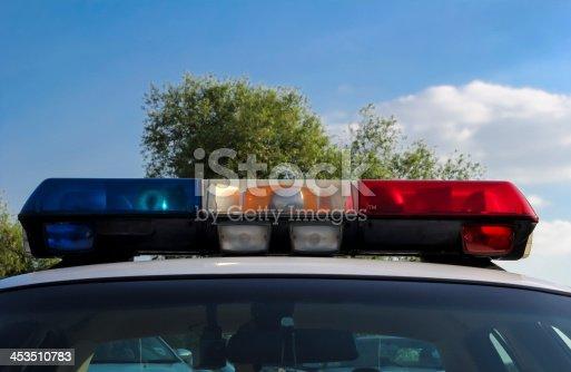istock Police car lights 453510783