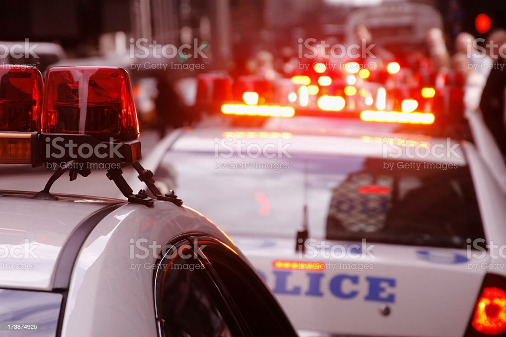 Police Car Lights - United States stock photo
