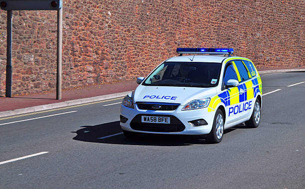 Polizeiauto auf ein Shout