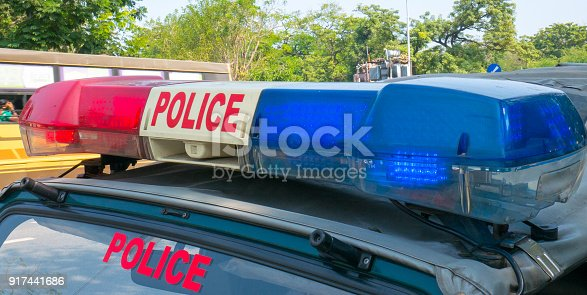 istock A police car on the street in Chennai, India 917441686