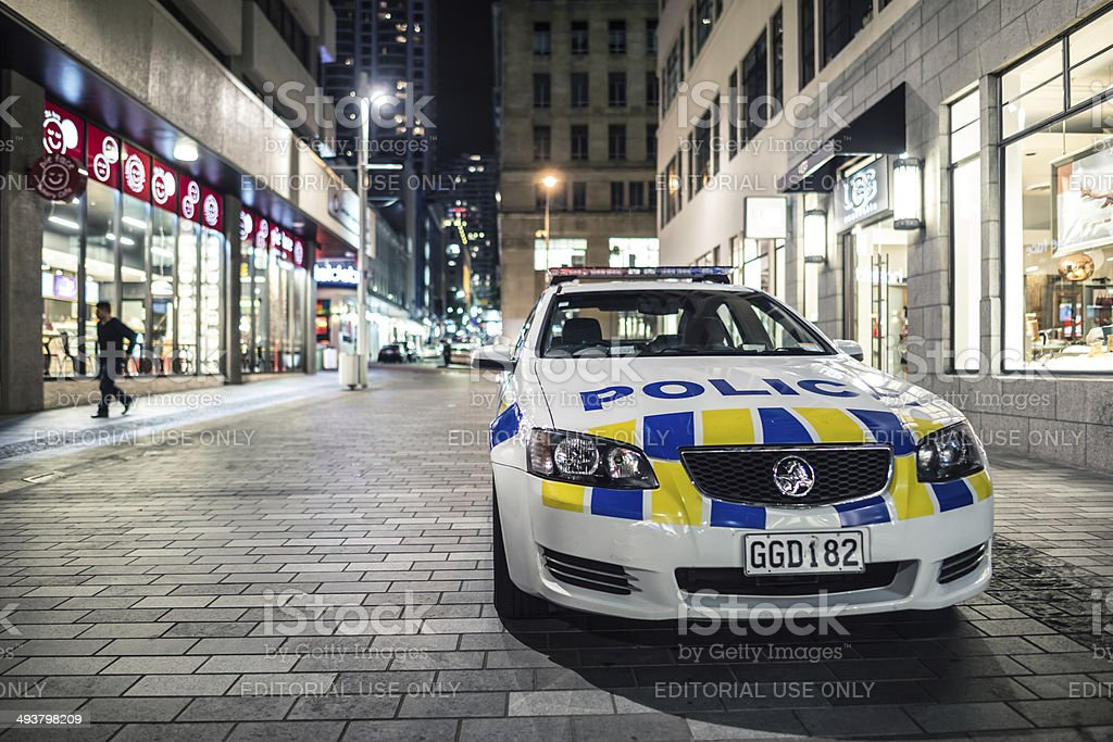 NZ Police car stock photo